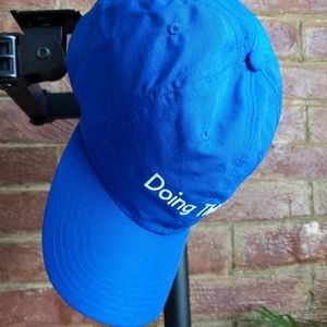 """Outdoor Voices Accessories - BRAND. NEW. Outdoor Voices """"Doing Things"""" Blue Cap"""